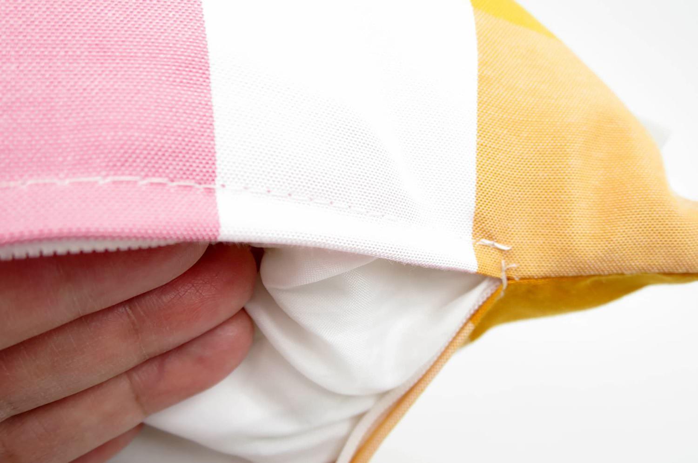 The Check チェッククッションカバー イエロー オレンジ 40×40cm