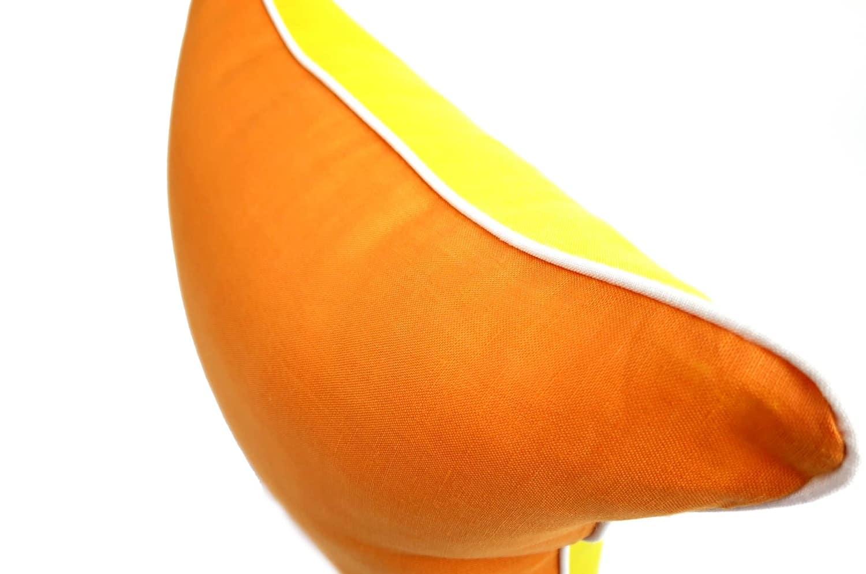 The Linen リネンリバーシブルクッションカバー イエロー オレンジ 40×40cm