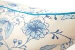 The CLARKE&CLARKE 小さな花柄パイピング付クッションカバー ブルー 45×45cm