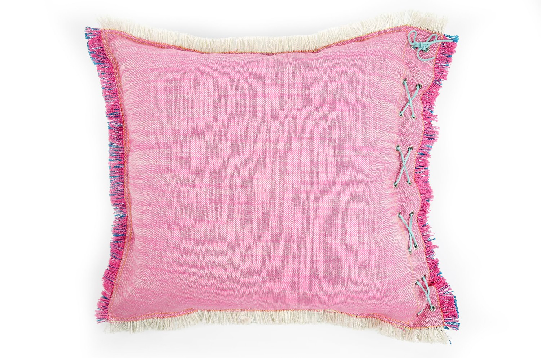 リネンが入ったザックリ太糸が可愛いリバーシブルクッションカバー 45×45