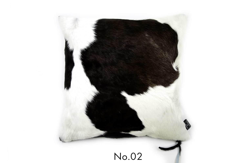 モダンな上質毛並みの牛革クッションカバー NO.02 40×40