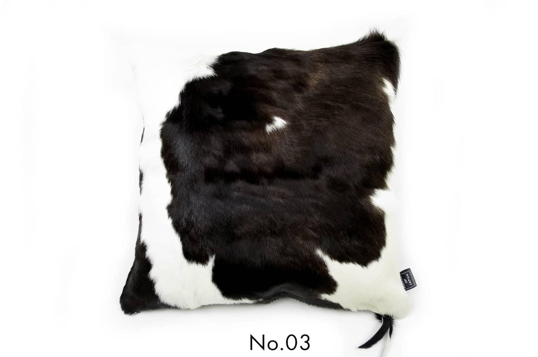 モダンな上質毛並みの牛革クッションカバー NO.03