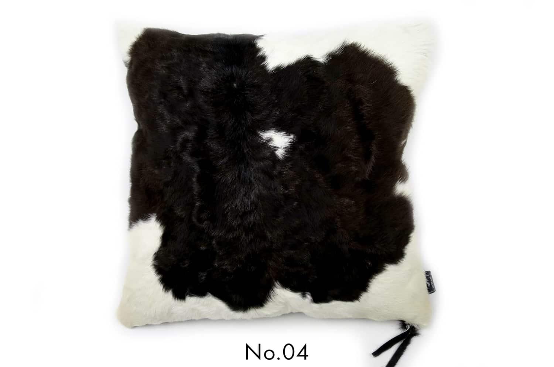 モダンな上質毛並みの牛革クッションカバー NO.04