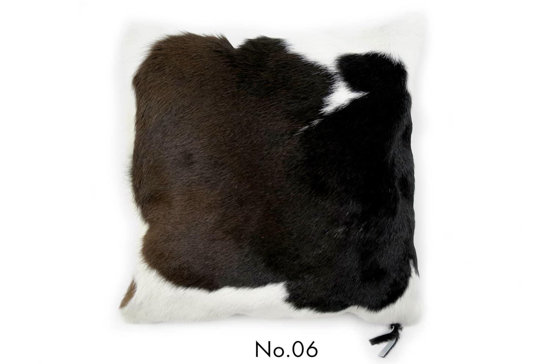 モダンな上質毛並みの牛革クッションカバー NO.06