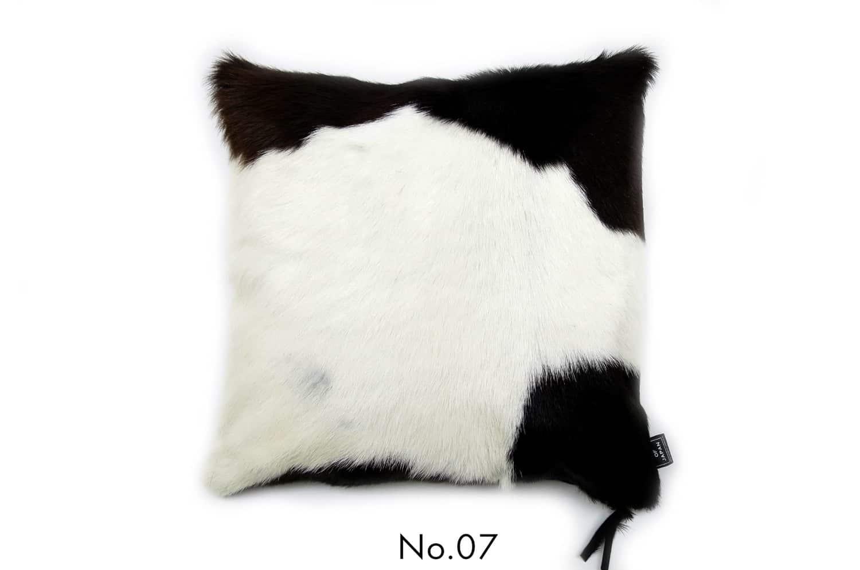 モダンな上質毛並みの牛革クッションカバー NO.07