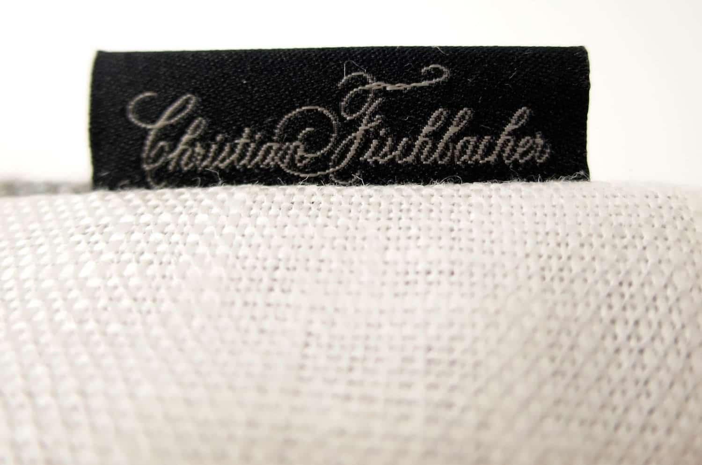 The FISBA Fabric フィスバファブリッククッションカバー ホワイト グレー 40×40cm