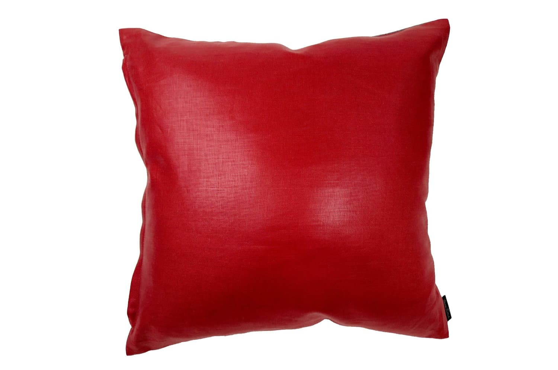 The FISBA Fabric フィスバファブリッククッションカバー レッド グレー 45×45cm