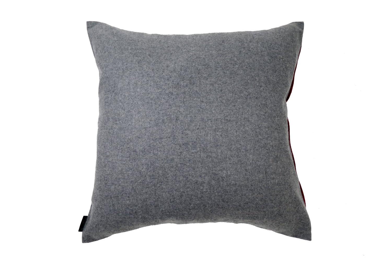 The FISBA Fabric フィスバファブリッククッションカバー レッド グレー 40×40cm