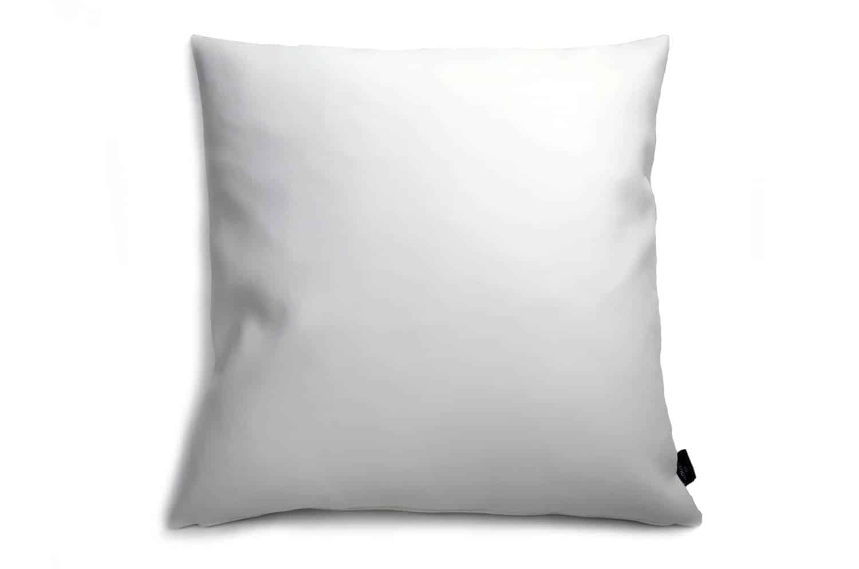 白のソファーに合う輸入高級フェイクレザーホワイトクッションカバー 45×45