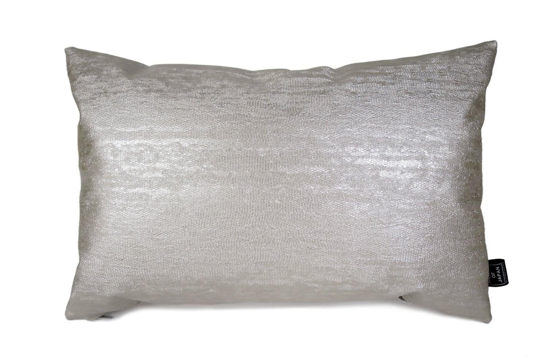 The Silver Snake シルバースネークフェイクレザークッション 45×30cm 中材付