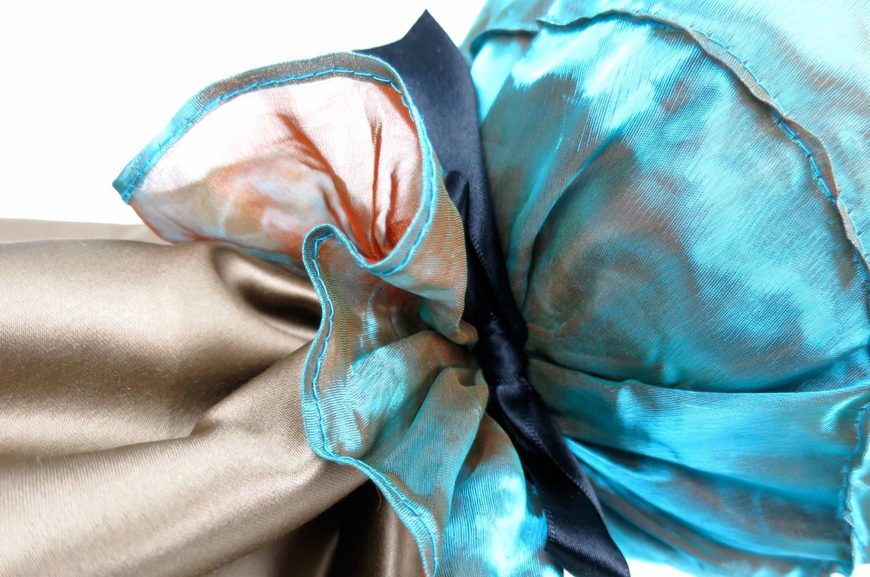 The Candy ヤコブ&フィスバファブリックキャンディー型クッション 美エメラルドブルー 43×Φ16cm