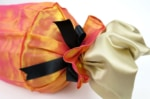 The Candy ヤコブ&フィスバファブリックキャンディー型クッション 美オレンジピンク 43×Φ16cm