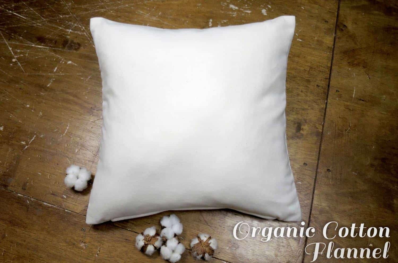 The Organic Cotton フランネルオーガニックコットンクッションカバー 45×45cm