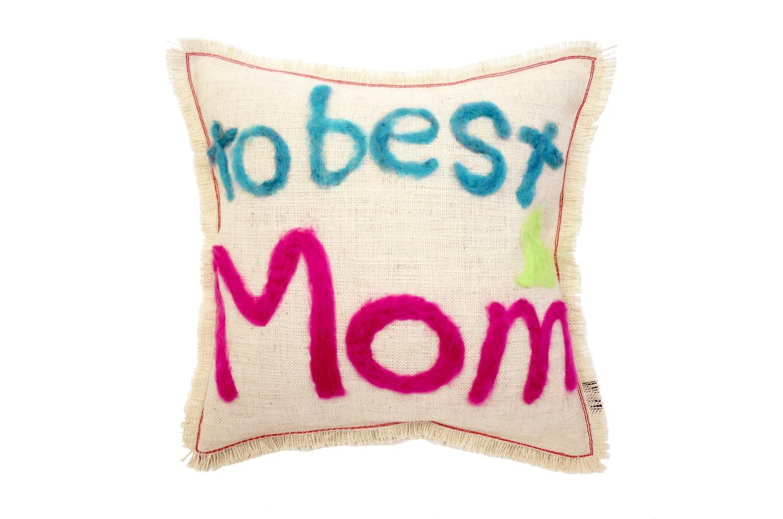 The Message - to best Mom ハンドメイドメッセージクッション 35×35cm 中材付