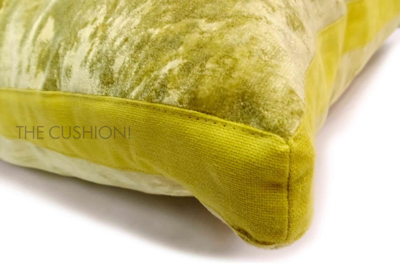 色で選ぶフレンチクッション レモン ベルベットマチ付 by CASAMANCE(カサマンス)