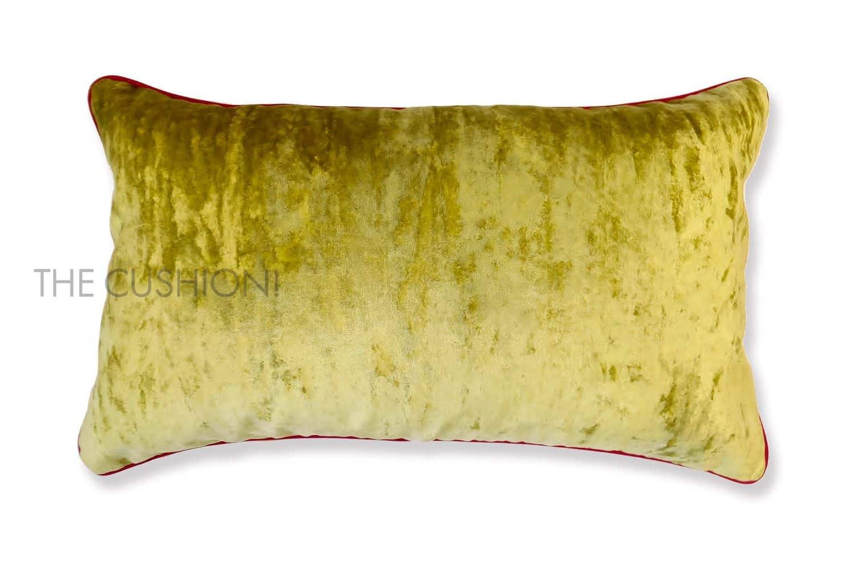 色で選ぶフレンチクッション レモン ベルベット横長 by CASAMANCE(カサマンス)