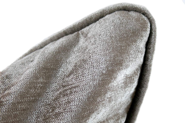 シルバーグレー シャイン ベロア クッションカバー 45×45