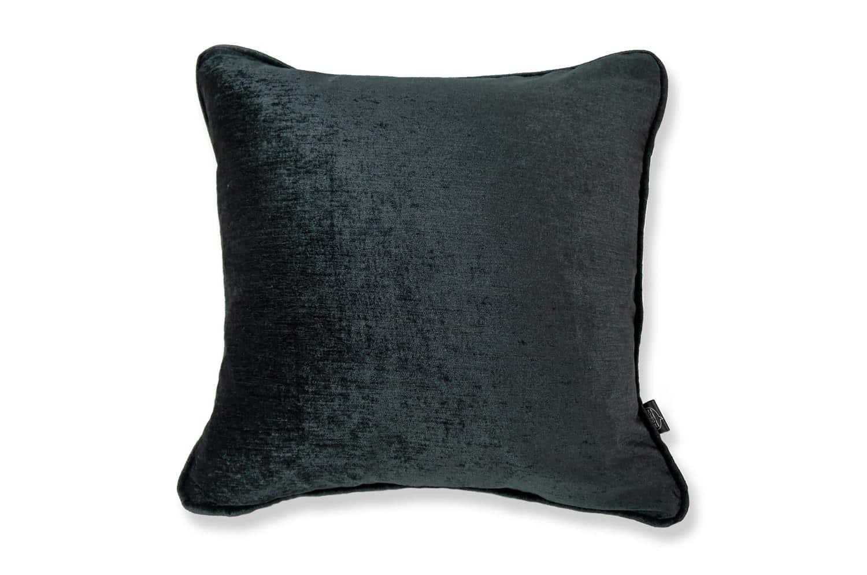 ブラック シャイン ベロア クッションカバー 45×45
