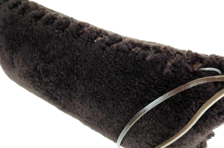 至福のふかふか 贅沢 ムートン クッション 横長サイズ NO.04 52×24