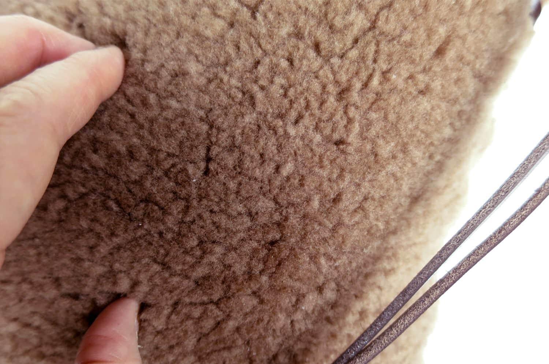 至福のふかふか 贅沢 ムートン クッション 大きめサイズ NO.03 58×45