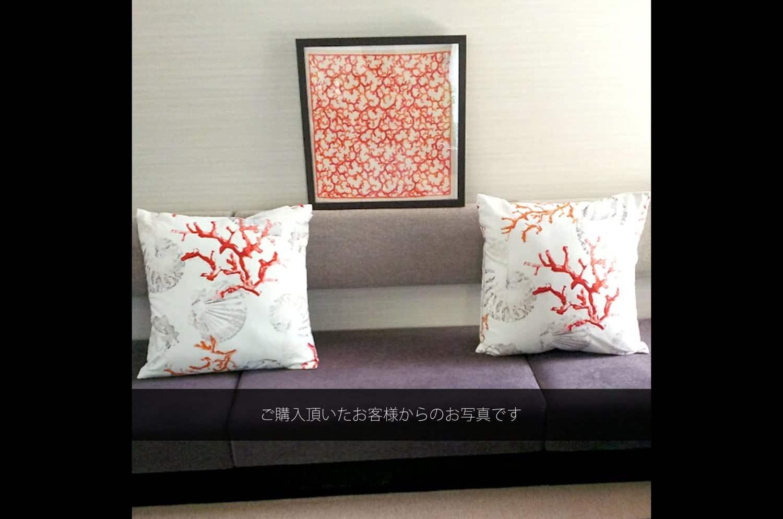 The Table Cloth サンゴ柄テーブルクロス 130×130cm