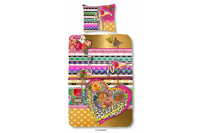 Duvet cover Flamingo(Flamingoシングルサイズベッド&ピローカバーセット)MELLI MELLO