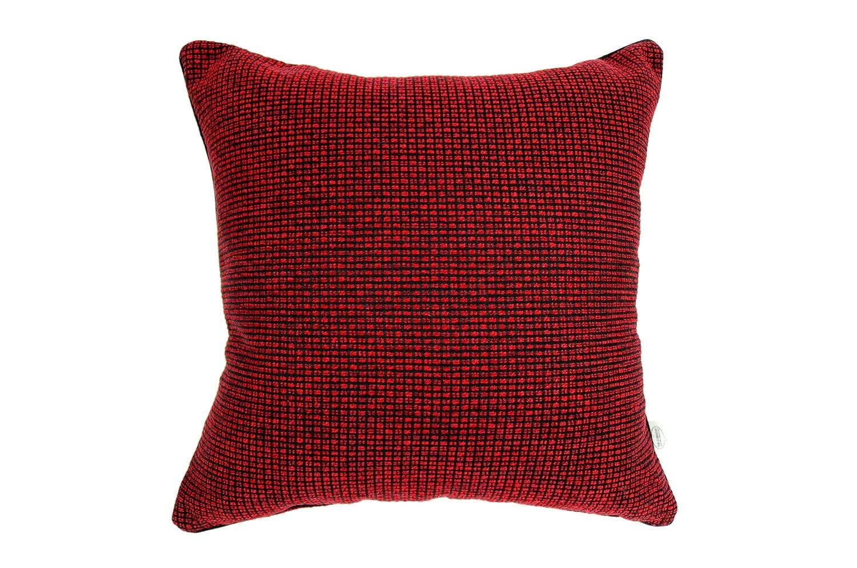 ざっくり!赤×黒 クッションカバー 45×45