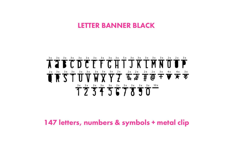 レターバナー ブラック A Little Lovely Company ガーランド アルファベット