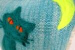 The Message - Cat Love ハンドメイドメッセージクッション 35×35cm 中材付