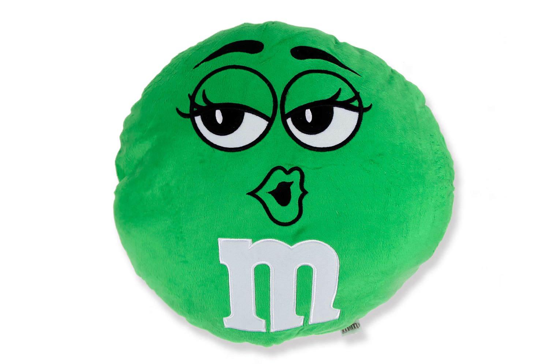ふかふかしてて触り心地も抜群のM&M's(エムエアンドエムズ)ラウンドクッション 36cm Green