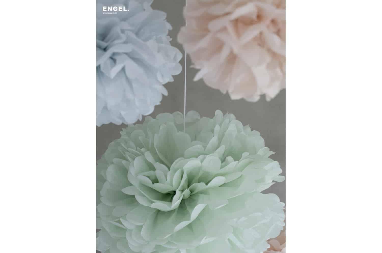 Pom Pastel small 3色セット ENGEL. ポン パステル ポンポン ペーパーポンポンスモール 25cm/30cm/35cm