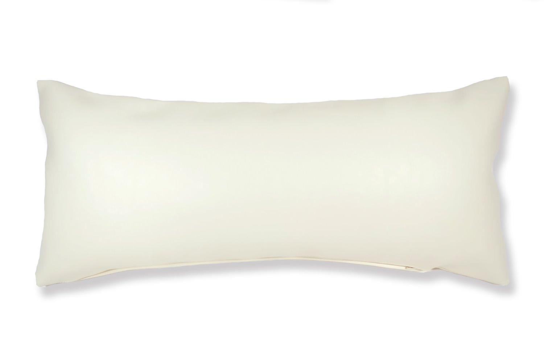 The Smile スマイル キュートブラックスマイル 『ニコフェイス®』刺繍クッション ホワイト 45×20cm 中材付