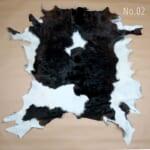 カウラグ 敷物 毛皮インテリアラグ マット ハラコ 牛革 革 レザー No.002