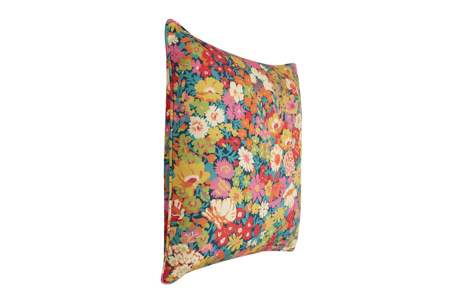 リバティ クッション LIBERTY ART FABRICS FLOWERS OF THORPE COTTON LINEN TWILL CUSHION IN SUMMER BLOOM 45×45