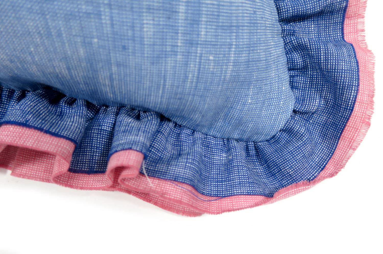 The French Linen フレンチリネンラブフリルクッションカバー ダンガリー 40×40cm