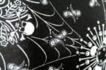 The HAV-A-HANK ハバハンクバンダナペイズリークッション PAISLEY Skulls & Flames 50×50cm