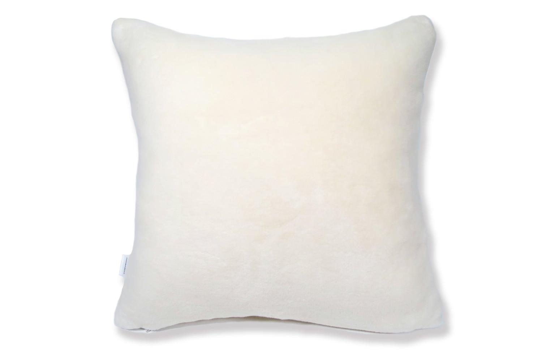 The Snow 白雪オーガニックコットンファークッションカバー 45×45cm