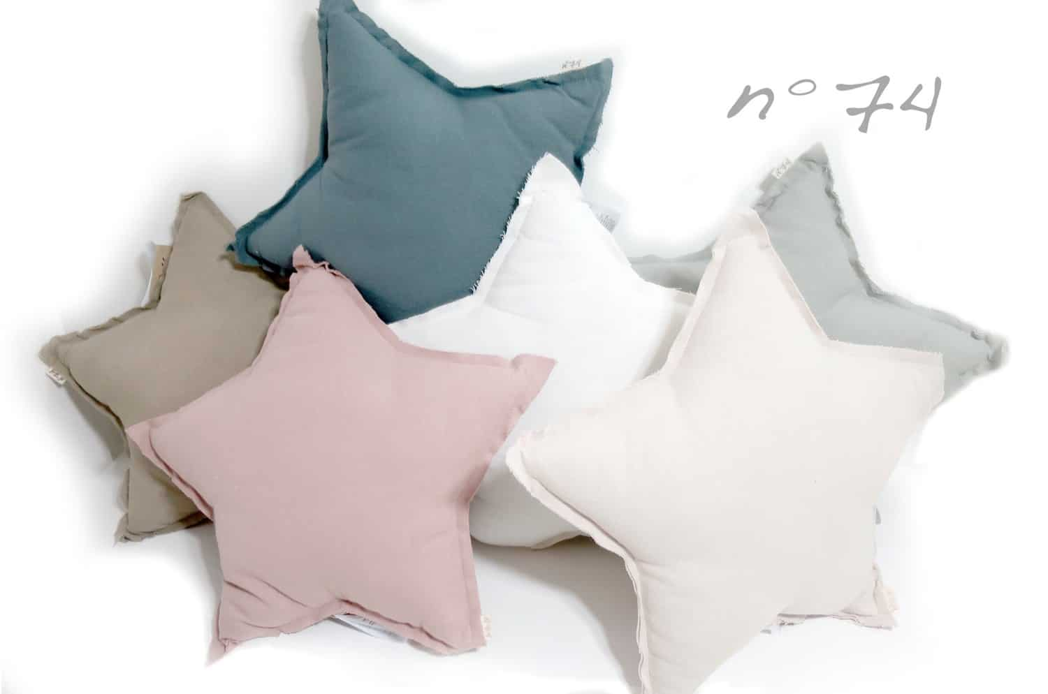 numero74 Mini Star Cushion Pastel 星形クッション silver grey