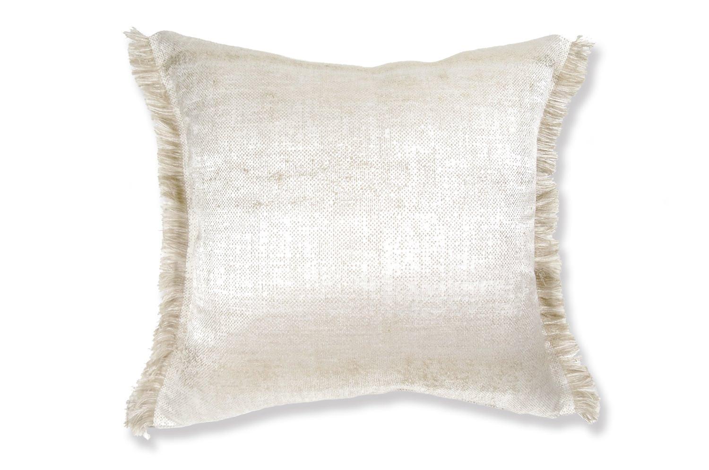 ALDECO Linen Vanilla アルデコ 麻フリンジクッション ホワイト 35