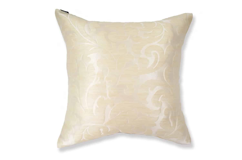 フィスバのシャインレース Milky white  NOUVELLE クッションカバー 45×45