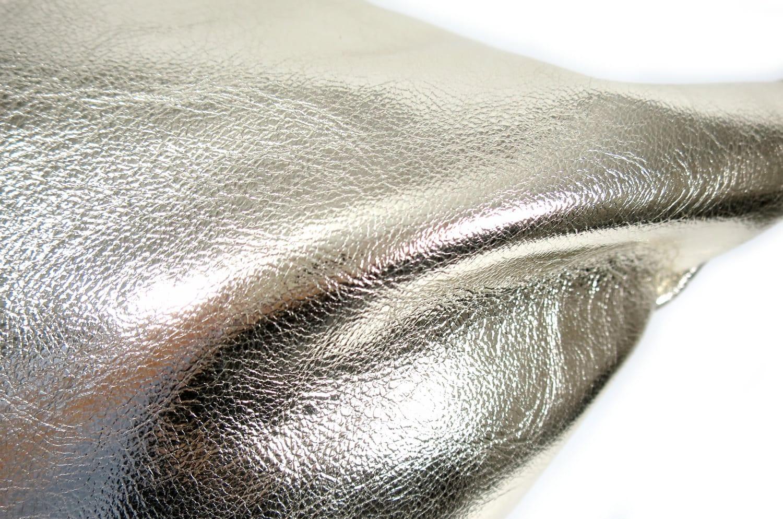 The HAKU ヤギ革クッション シャンパンゴールド箔×ラッカーニジップ 45×45cm 中材付