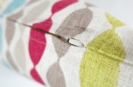 The Small Leaf クラーククラーク小さな葉っぱ柄クッションカバー 45×45cm