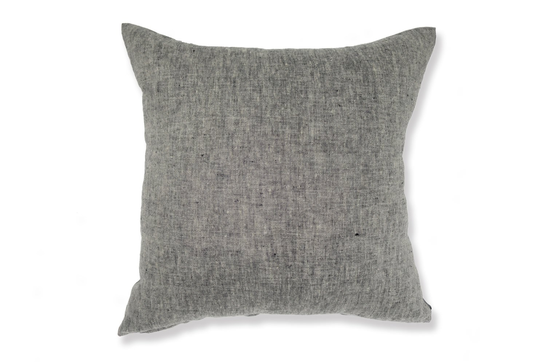 The Natural Linen 天然素材リネンクッションカバー ブラック 45×45cm