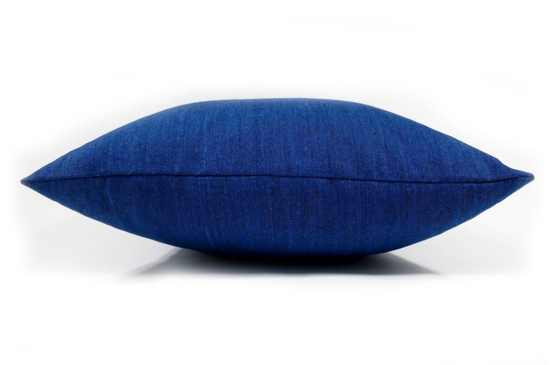 The Natural Linen 天然素材リネンクッションカバー インディゴブルー 45×45cm