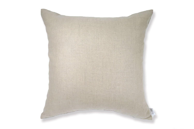 天然素材リネンクッションカバー 柔らかナチュラル色 45×45