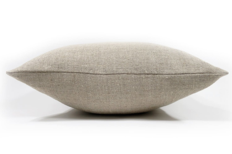 The Natural Linen 天然素材リネンクッションカバー ナチュラルダーク 45×45cm