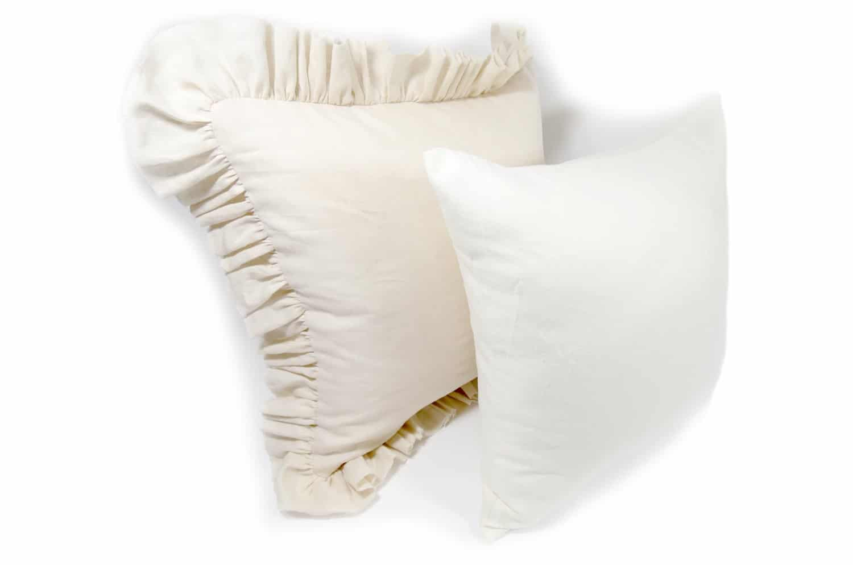 天然素材リネンクッションカバー 柔らかオフホワイト色 45×45