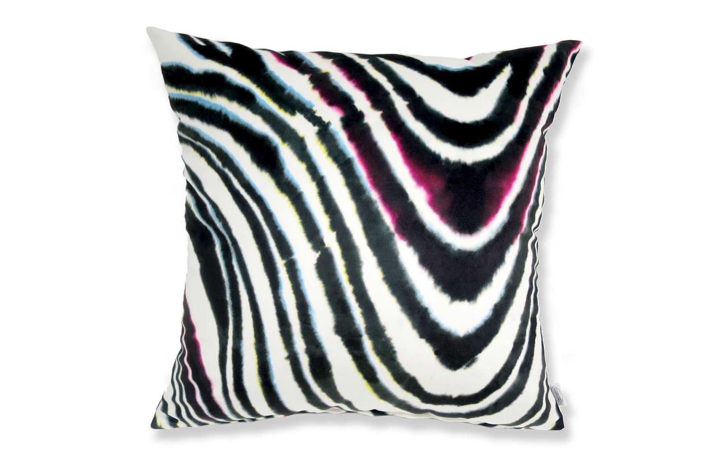 The Color Marble スペイン製起毛スエードタッチ カラーマーブルクッションカバー 50×50cm