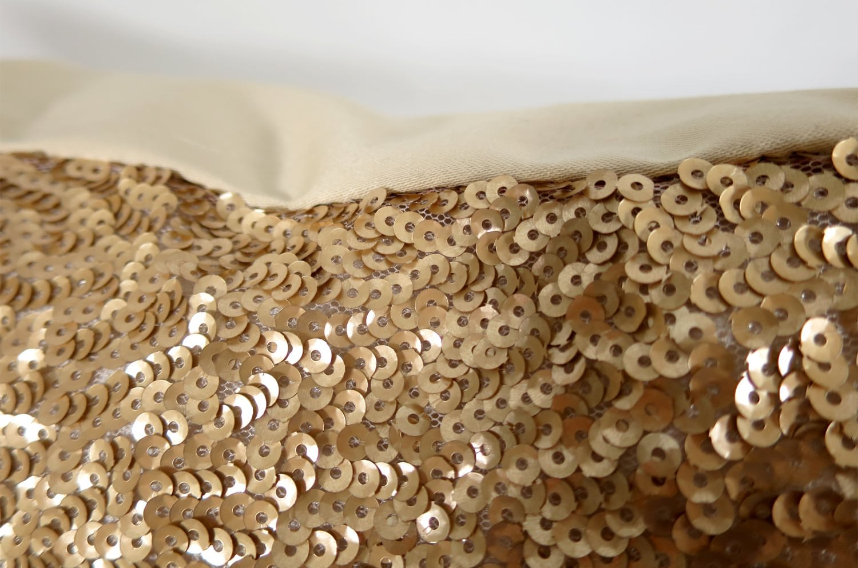 The Spangle スモールスパンコールクッションカバー ゴールド 45×45cm