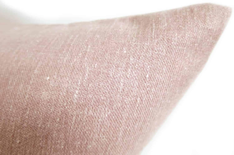 柔らかリネン&コットンクッション スモーキーピンク 45×45 輸入ファブリック